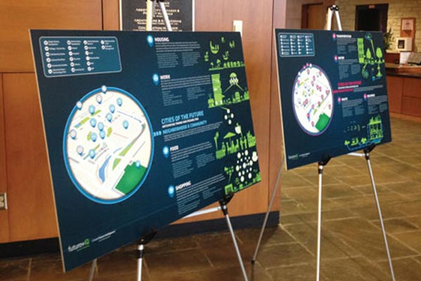 Inforgraphics on display