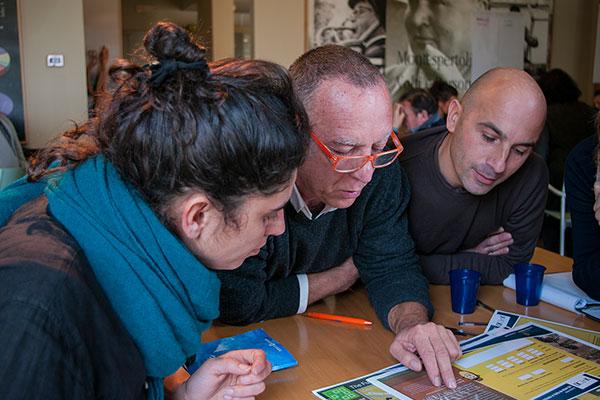 Team members in the scenario planning workshop.