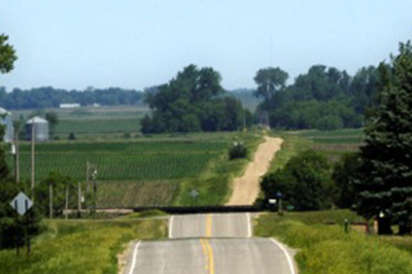 Road through Mid-Iowa