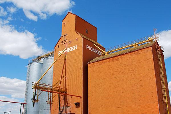 Grain silo in Canada.