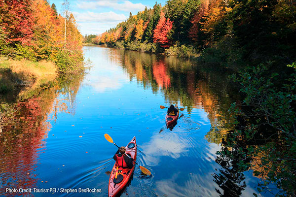 Kayakers in the St. Lawrence River