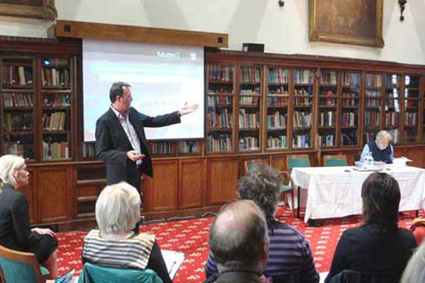 David Buerle, CEO of Future iQ, leading the Global Think Tank in Windsor Castle