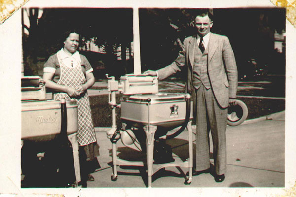 Vintage photo of Maytag washer.